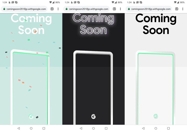 Pixel 3 Farben Teaser Leak