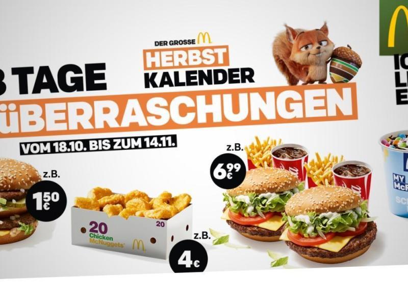 McDonalds Aktion Oktober 2018