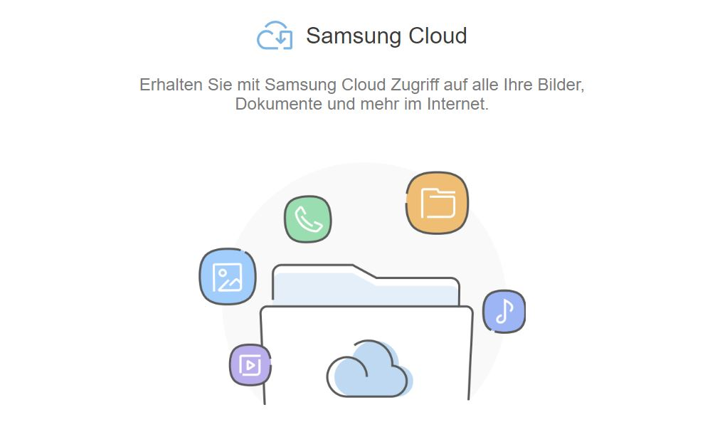 Samsung Cloud Header