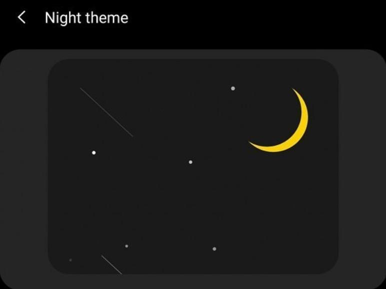 Samsung Experience 10 Nachtmodus