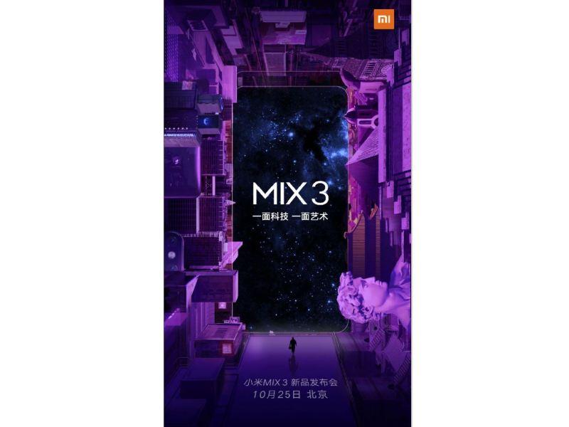Xiaomi Mi Mix 3 Oktober Teaser