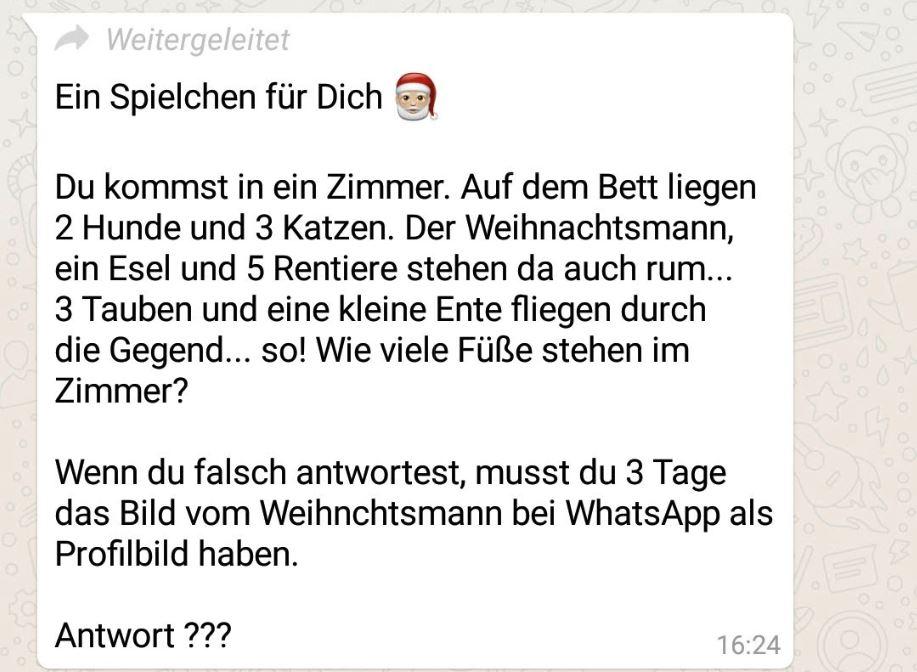 Whatsapp Weihnachtsmann Rätsel