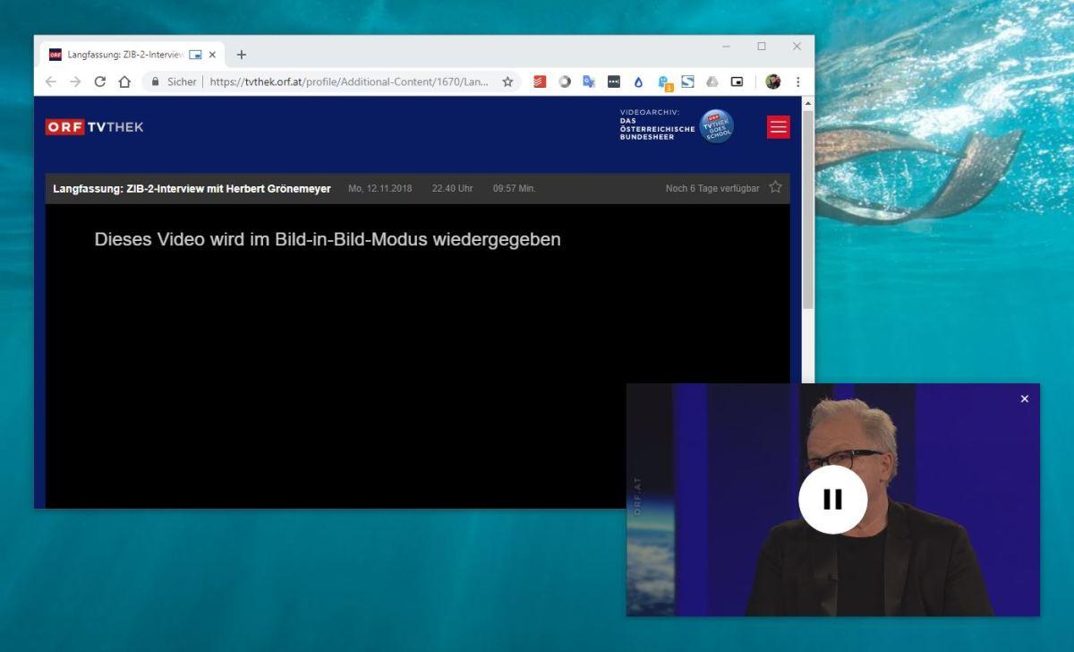 Chrome Bild-in-Bild