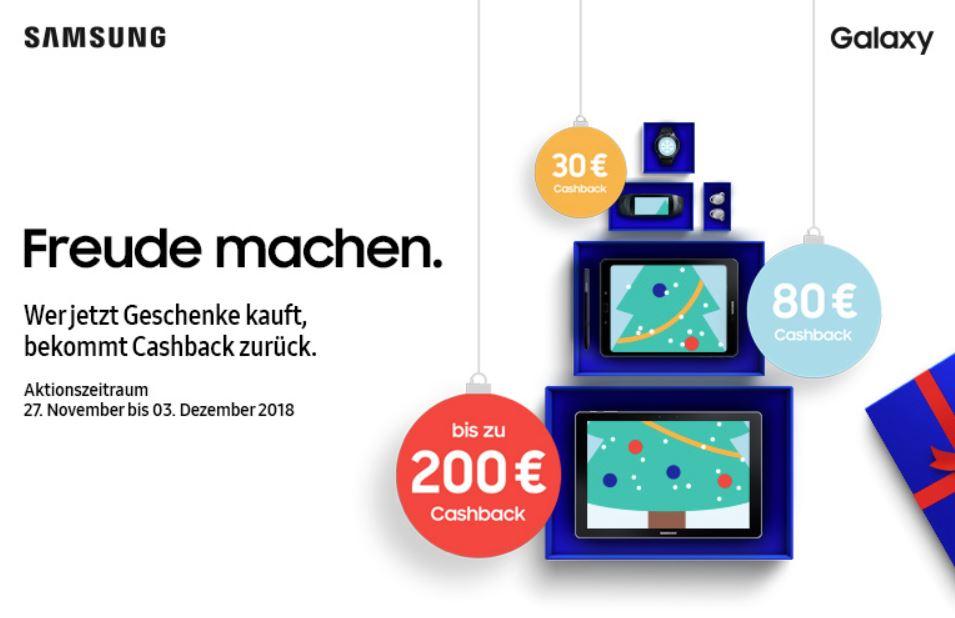 samsungs neue cashback aktion bis zu 200 euro zur ck f r. Black Bedroom Furniture Sets. Home Design Ideas