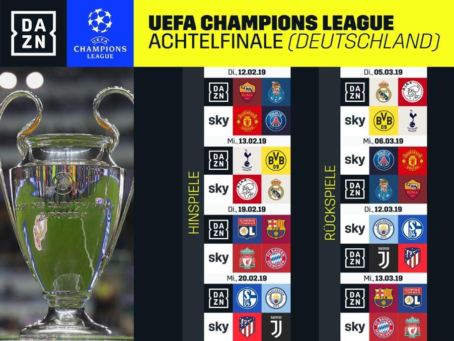 Welche Champions League Spiele Zeigt Dazn