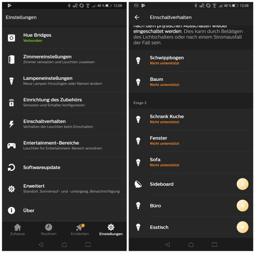 philips hue app update bringt endlich die option letzter zustand. Black Bedroom Furniture Sets. Home Design Ideas