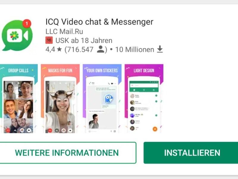 ICQ Google Play Header