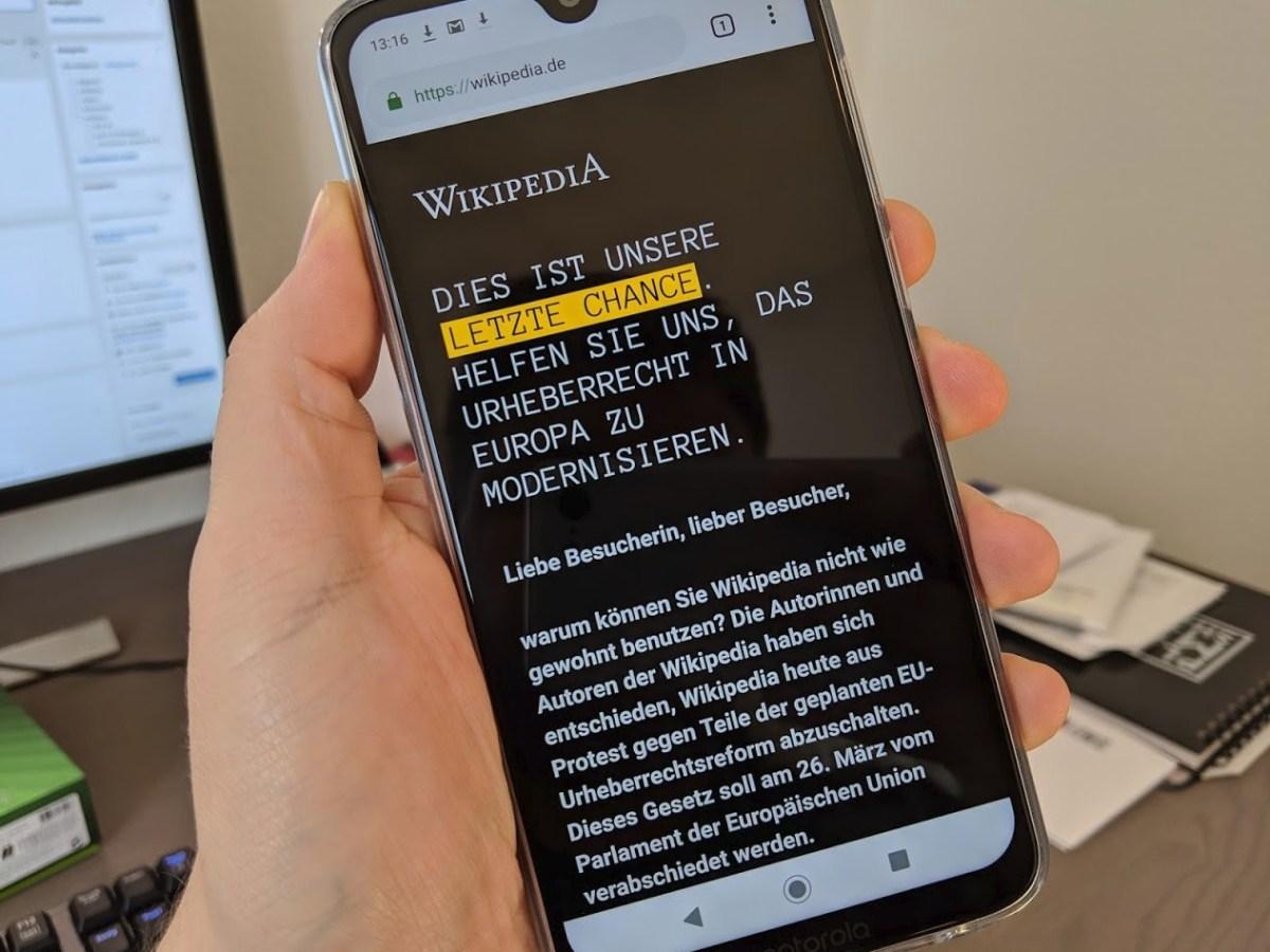Wikipedia Artikel 13 11 Protest