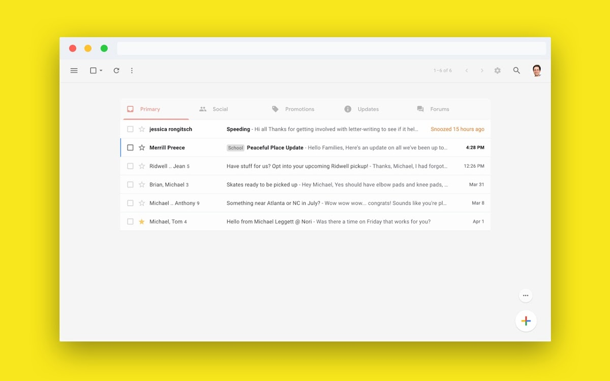 Gmail Simplify Erweiterung