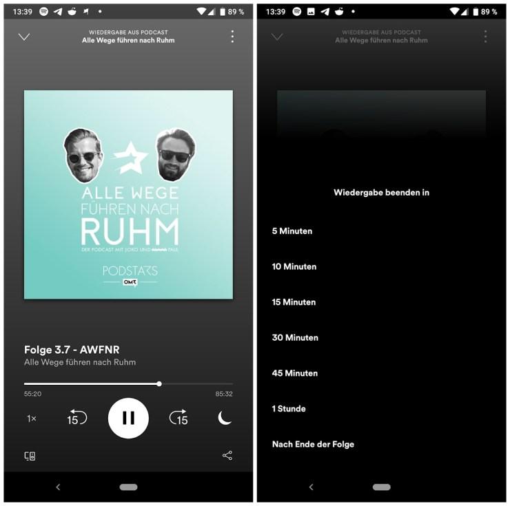 Spotify Sleep Timer