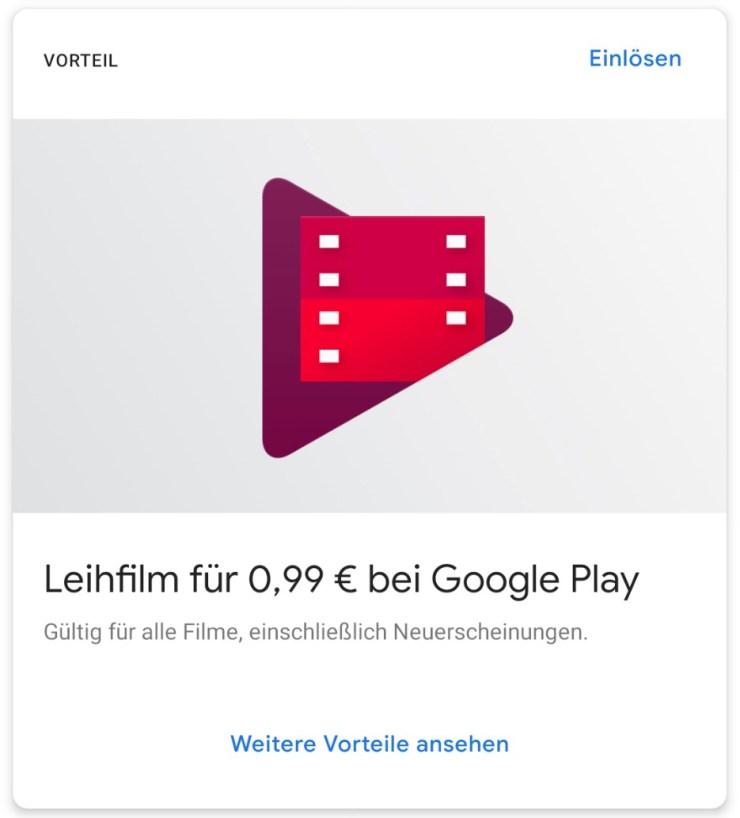 Google One Leihfilm 99 Cent