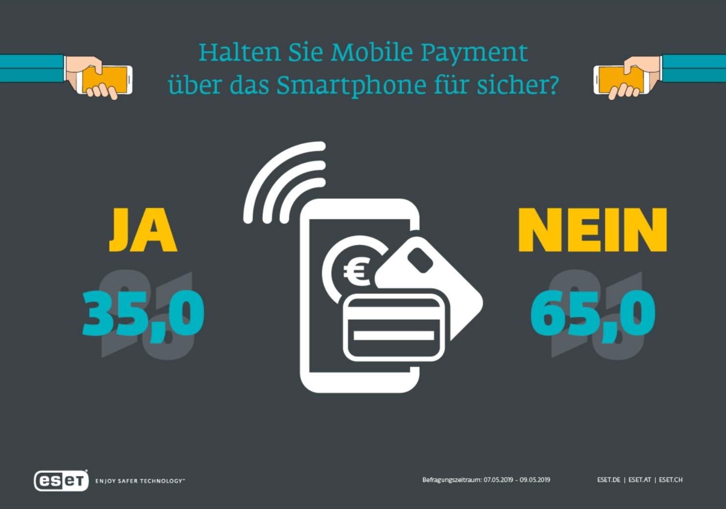 Mobile Payment halten die wenigsten für sicher