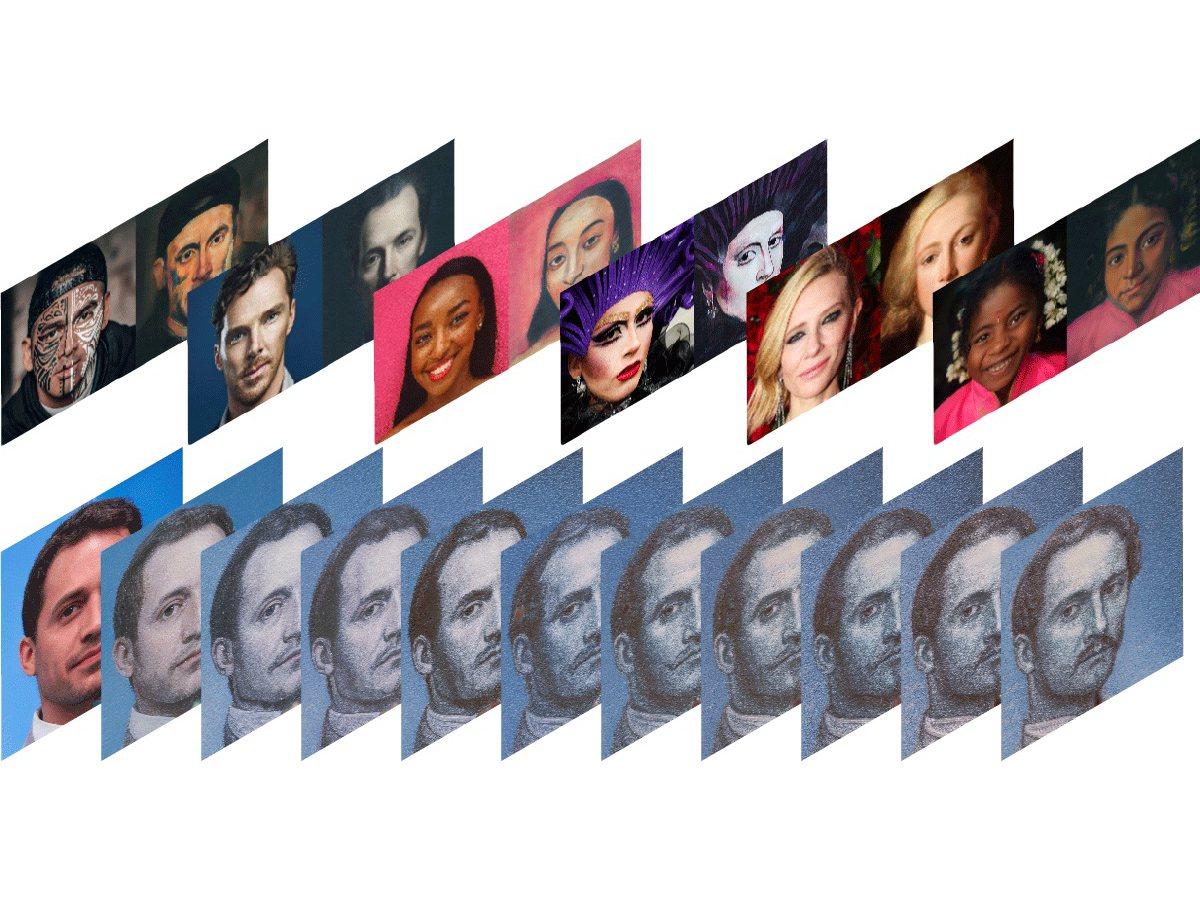 Webseite verzaubert Portraits in klassische Kunstwerke