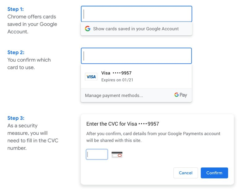 Chrome Bezahlung Screenshot