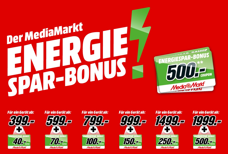 MediaMarkt Energie-Spar-Bonus 2019 Aktion