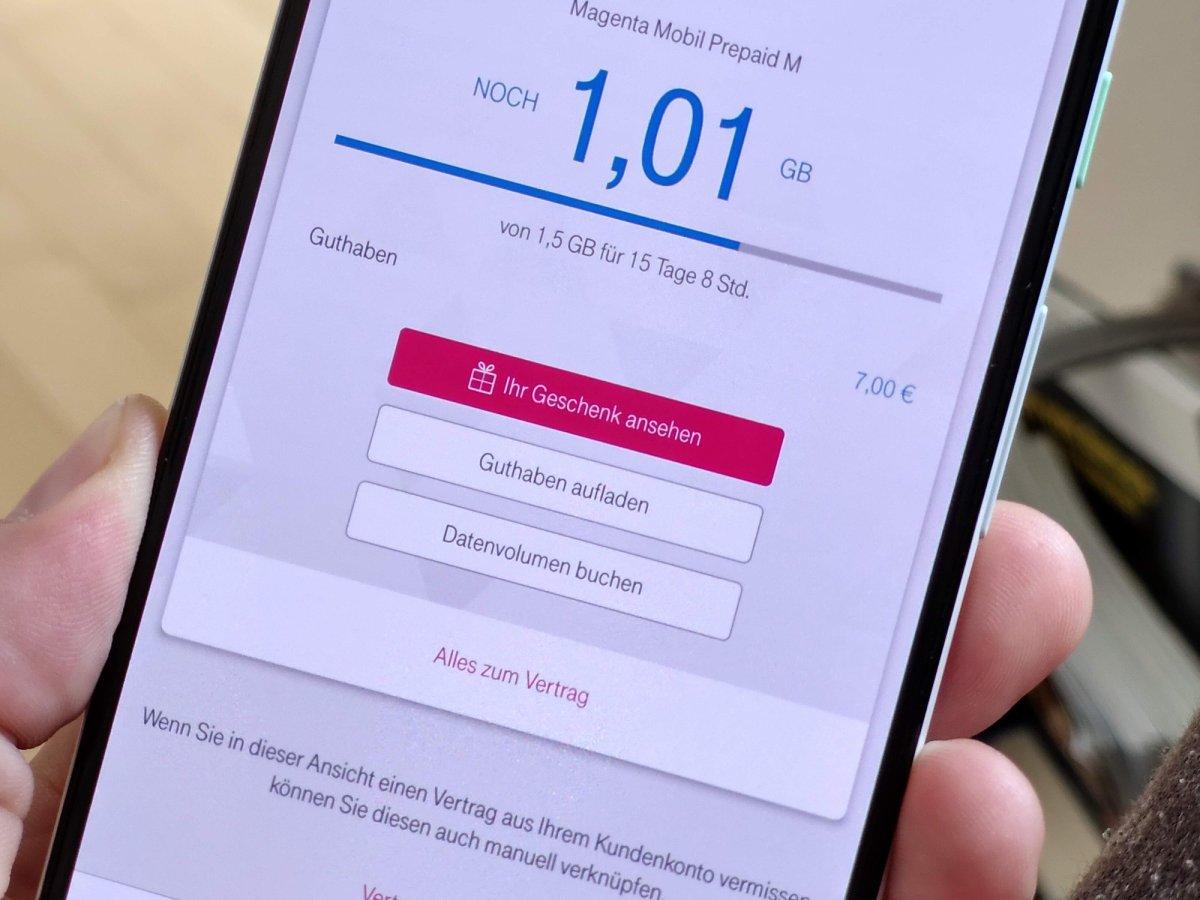 Telekom Magenta App Ihr Geschenk ansehen Taste