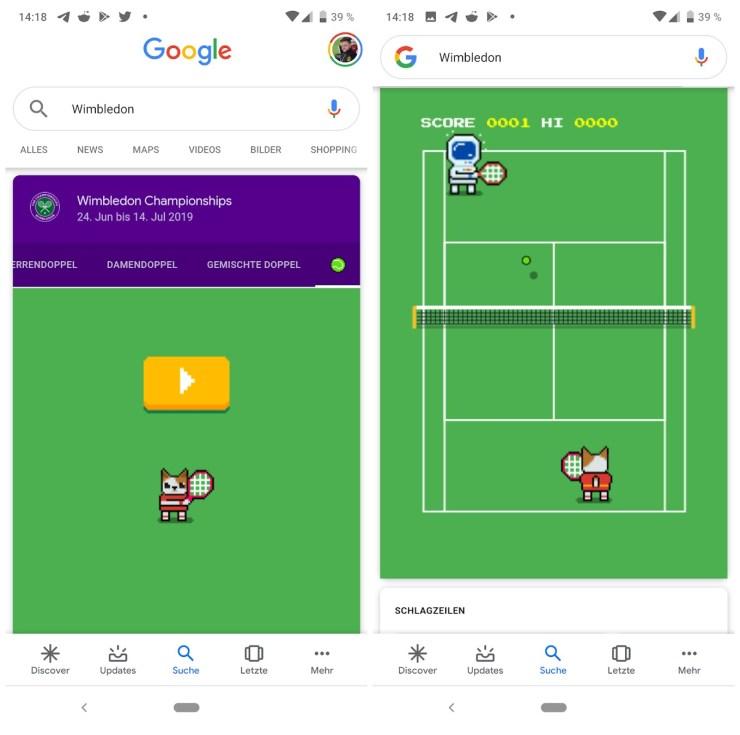 Wimbledon Spiel Google Suche 2019