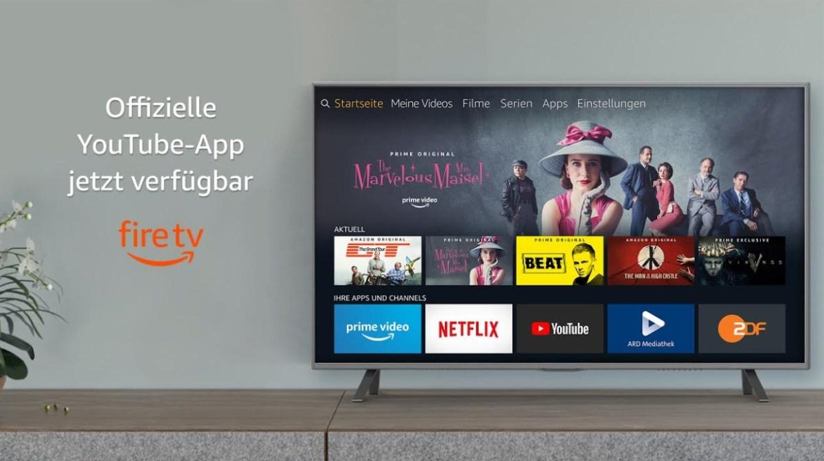 YouTube App Fire TV Header