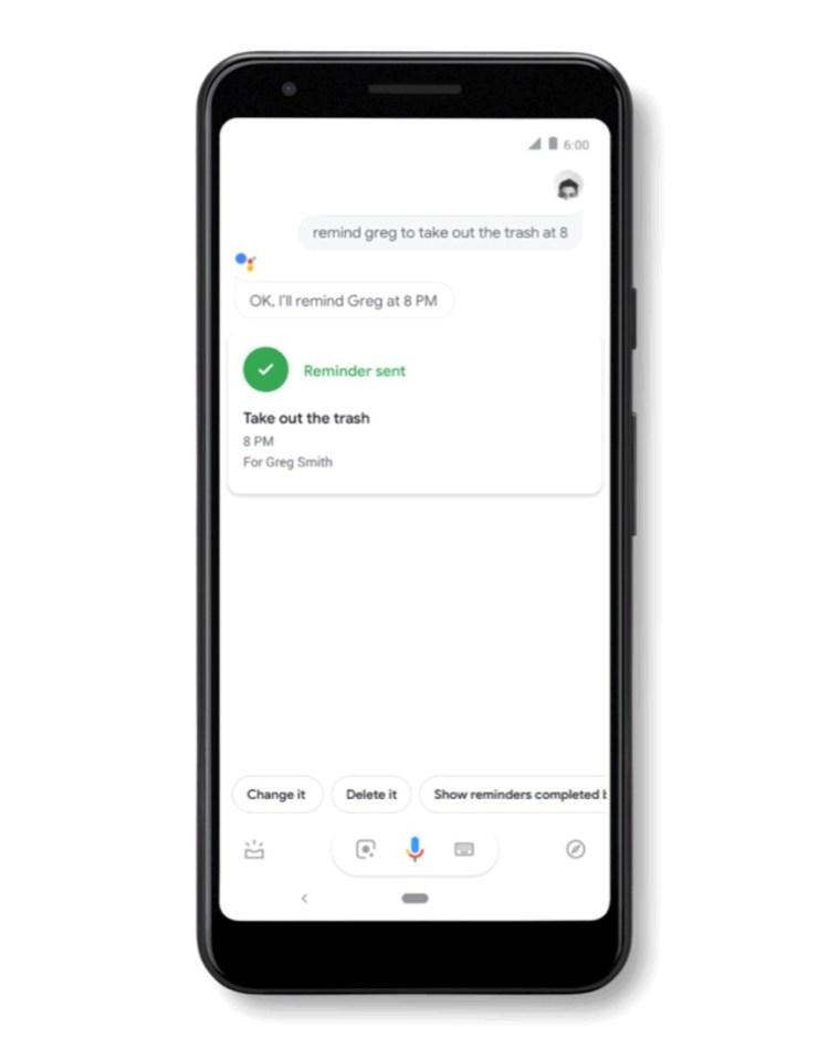 Google Assistant Erinnerung für andere Nutzer