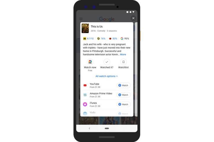 Google Filme Serien Empfehlungen mobile Suche