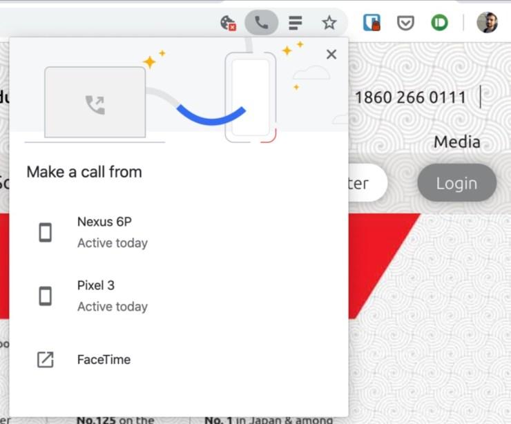 Telefonnummer weiterleiten Chrome