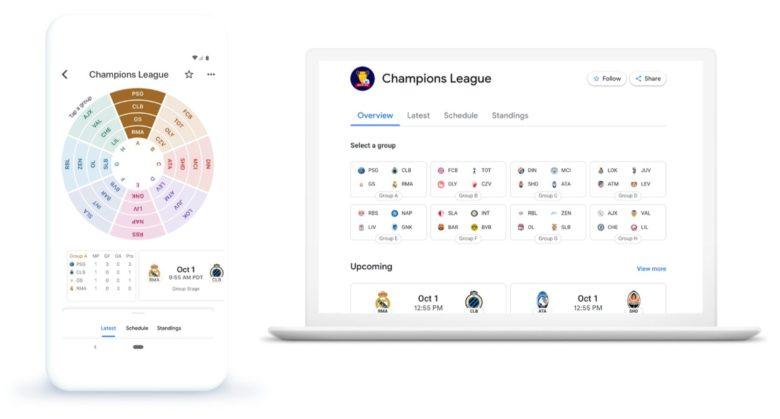 Google News Champions League