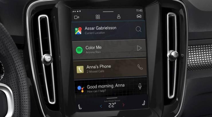 Volvo XC40 Android Automotive