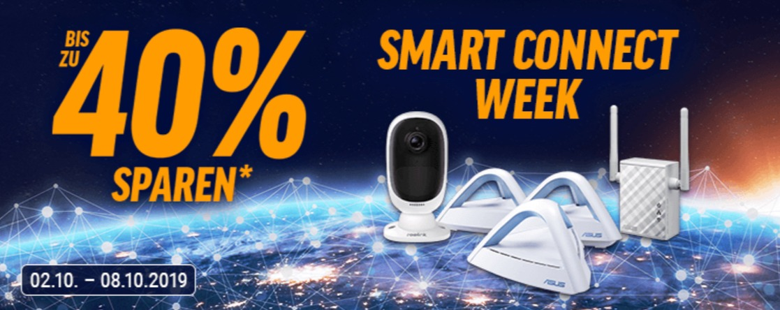 Bis 40% in der Smart Connect Week: Smarthome-Deals bei Notebooksbilliger
