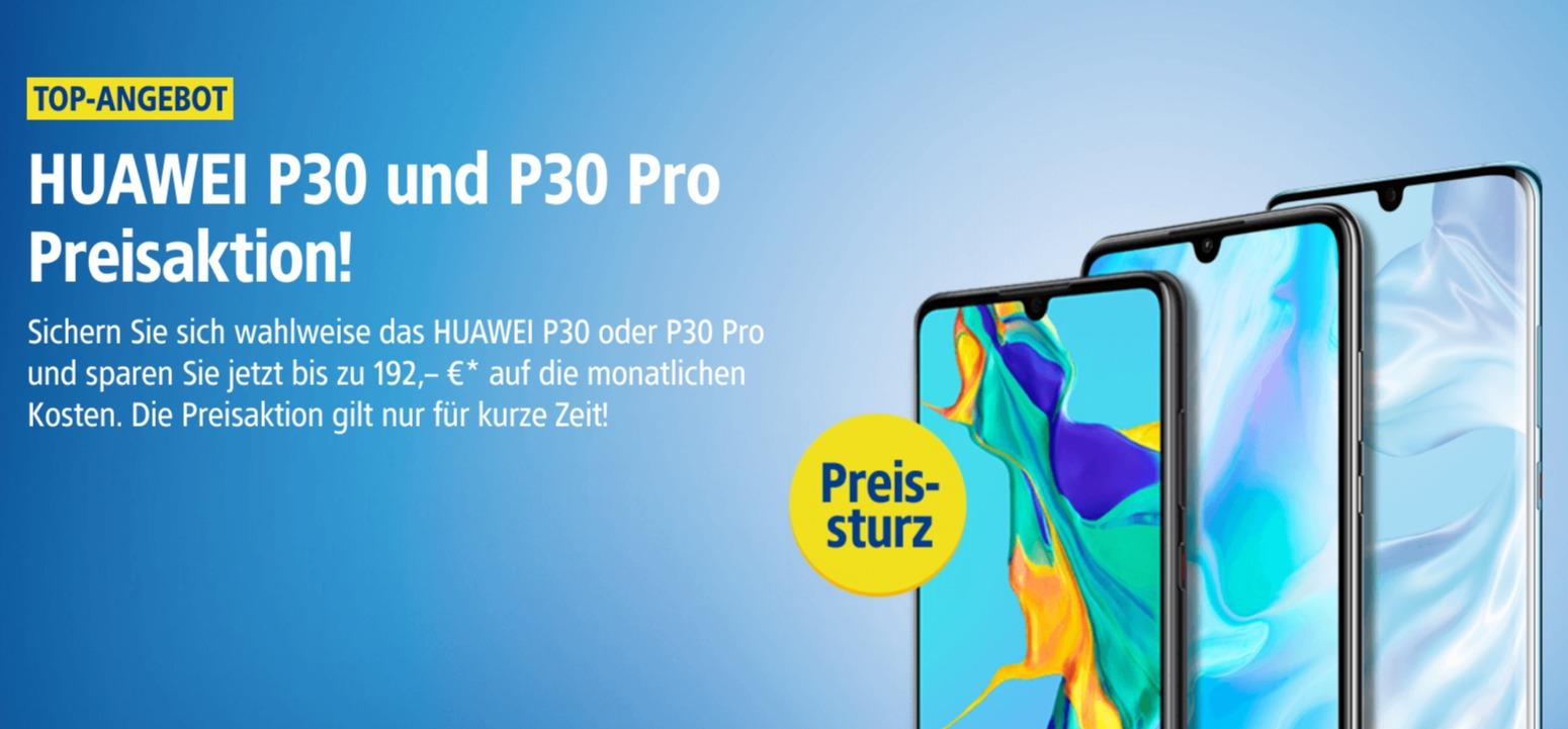 1&1 Mobilfunk senkt die Preise für Huawei P30 und P30 Pro