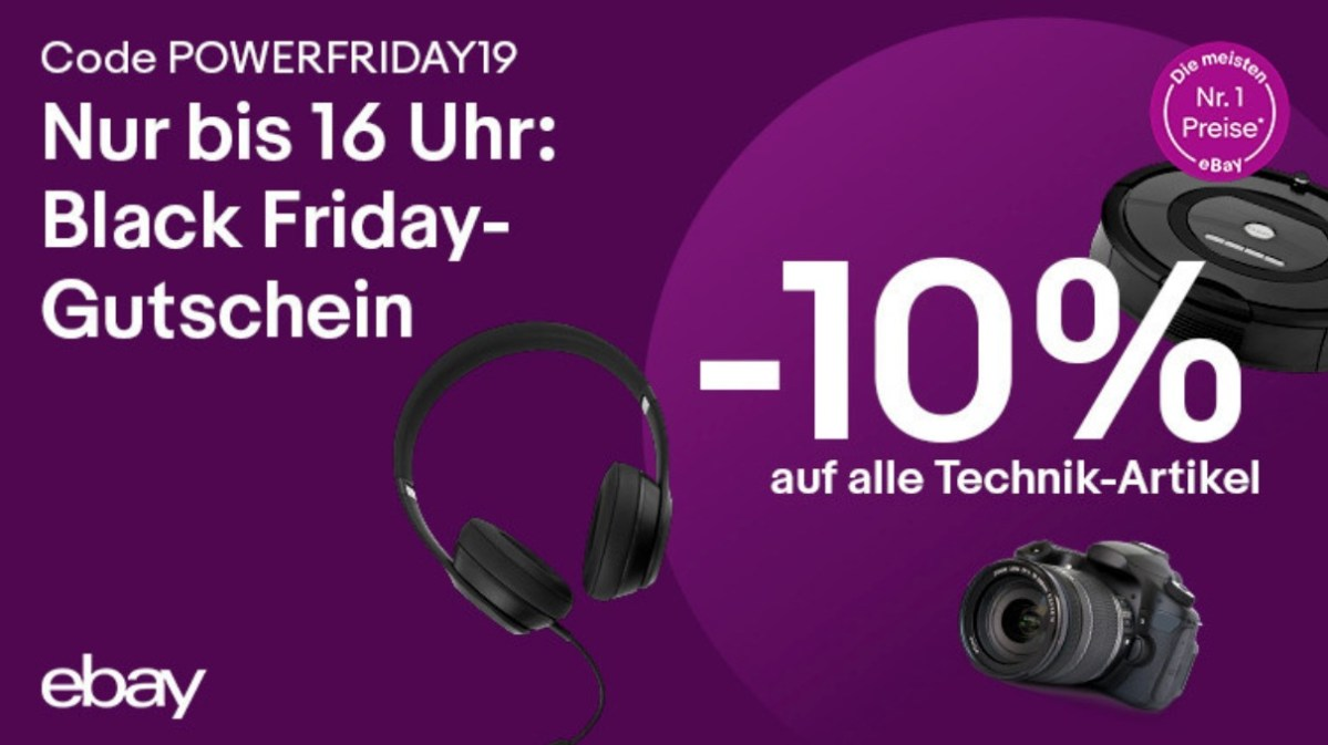 Ebay 10 Prozent Black Friday
