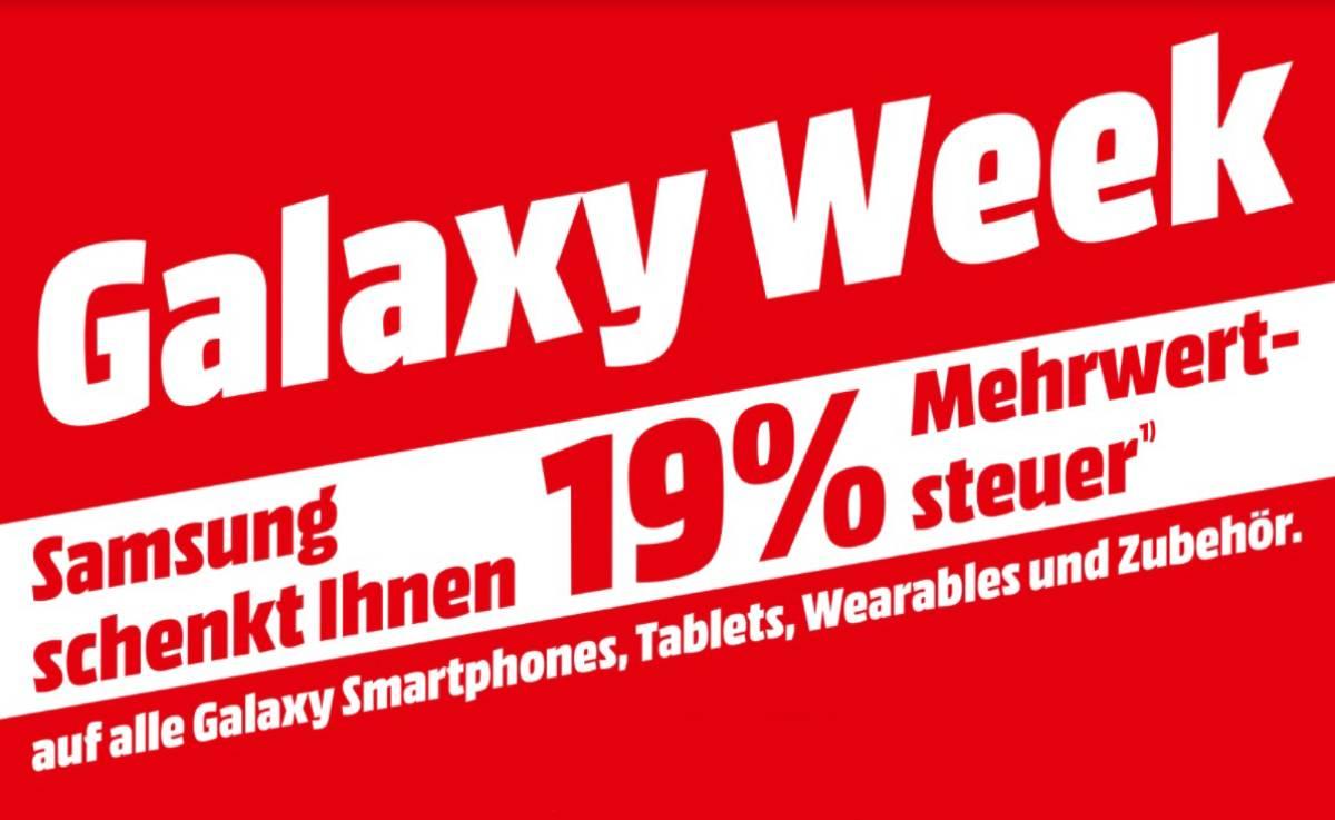 MediaMarkt & Saturn: Mehrwertsteuer geschenkt auf alle Galaxy-Produkte von Samsung