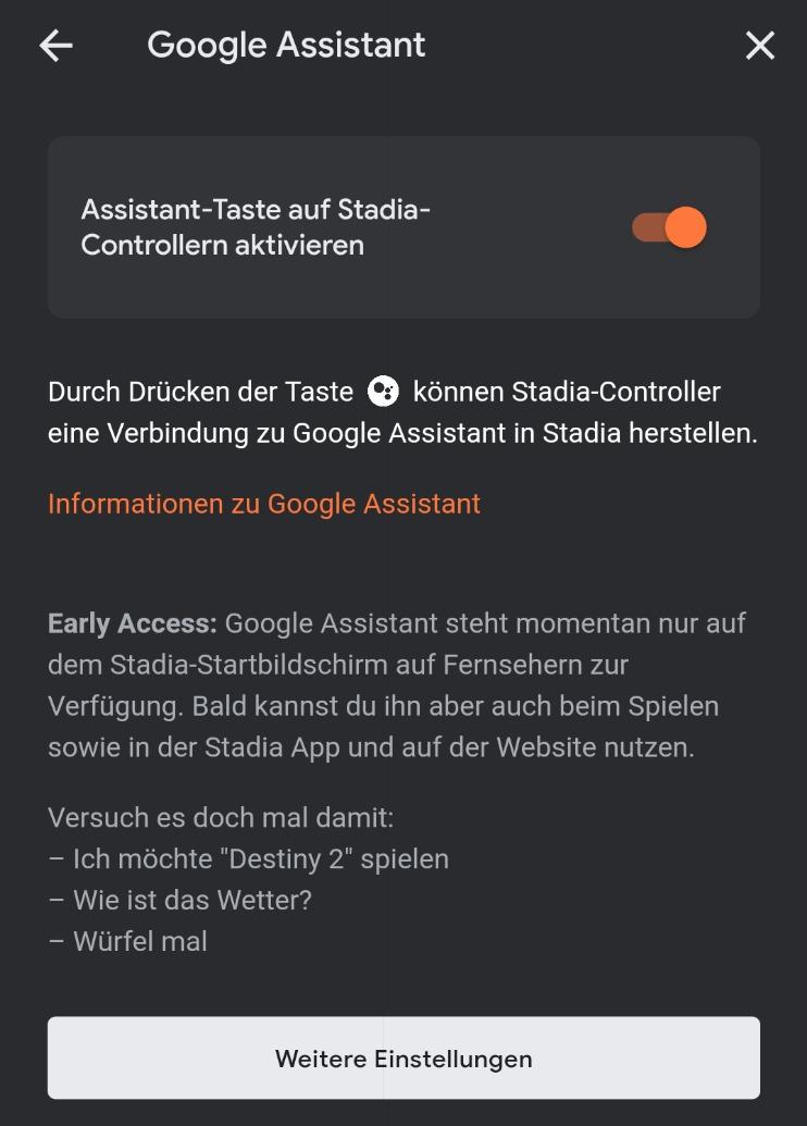 Google Assistant Stadia