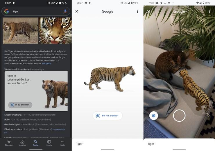 Google mobile Suche AR