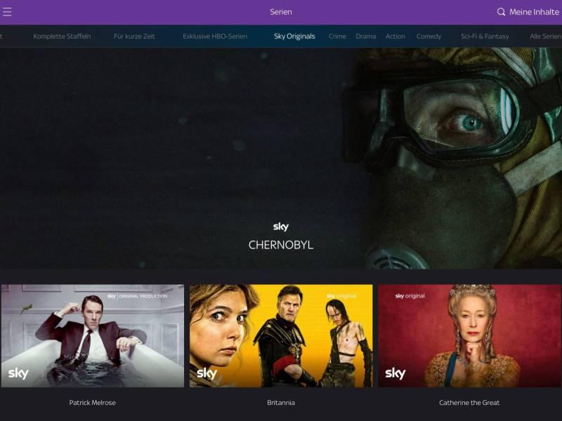 Sky Ticket Screenshot Header