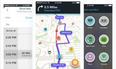 Waze App Header