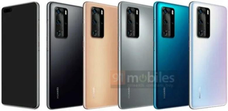 Huawei p40 Farben Leak