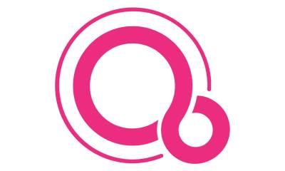 Fuchsia Emblem Logo Header