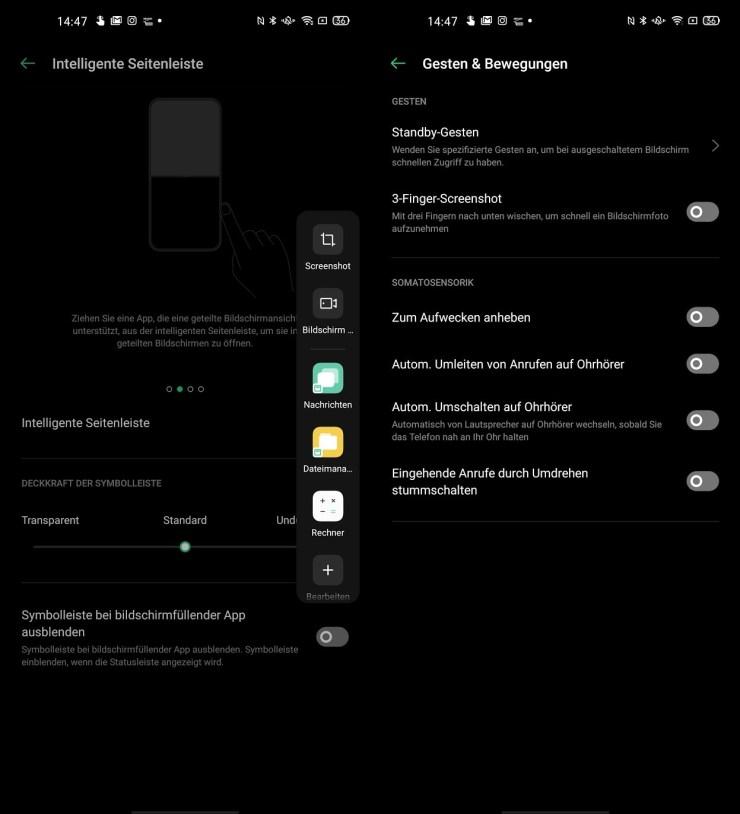 Find X2 Pro Seitenleiste