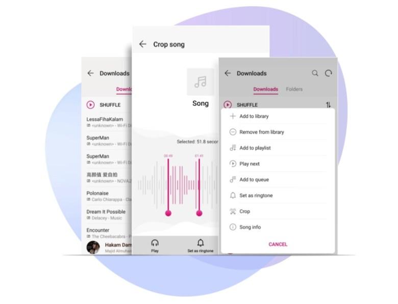 Huawei Music Screenshots