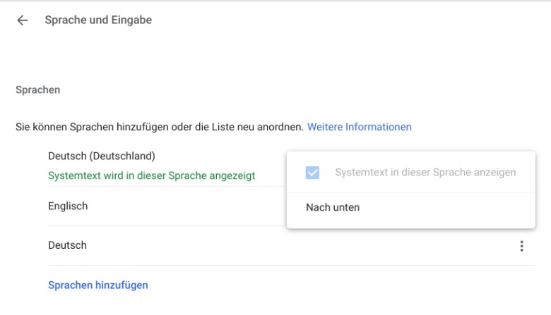 Google Assistant Deutsch Einstellungen Chromebook