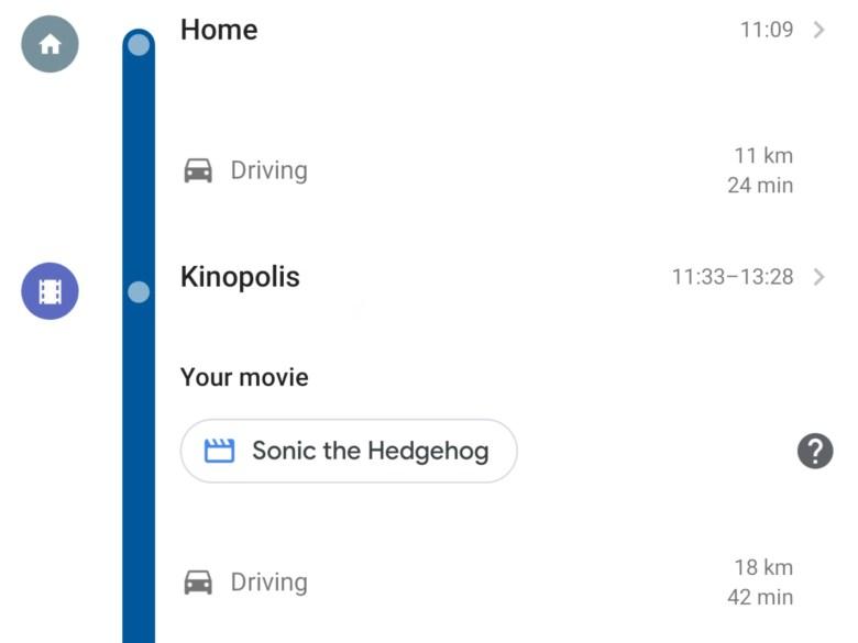 Kino Ticket Zeitachse Google Maps