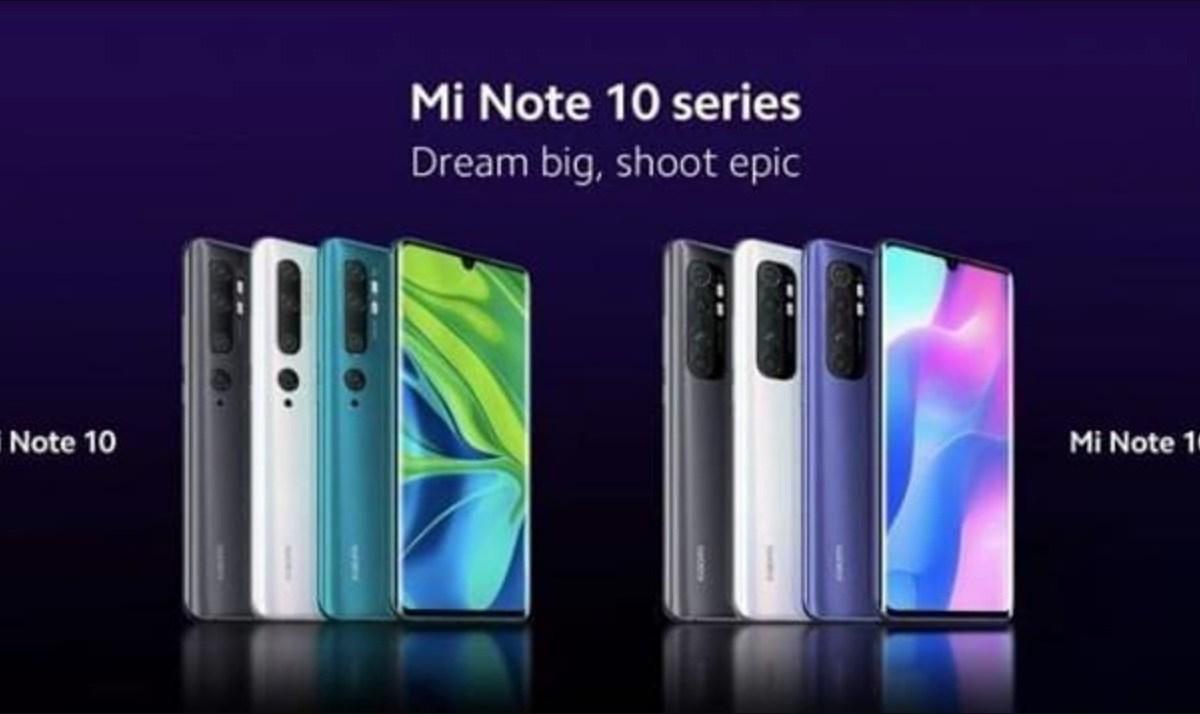 Mi Note 10 Serie Leak