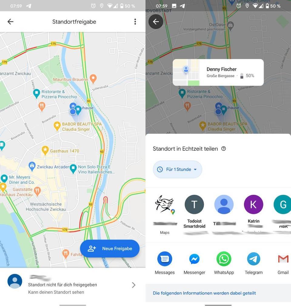 Google Maps Android Standortfreigabe 2020 Design