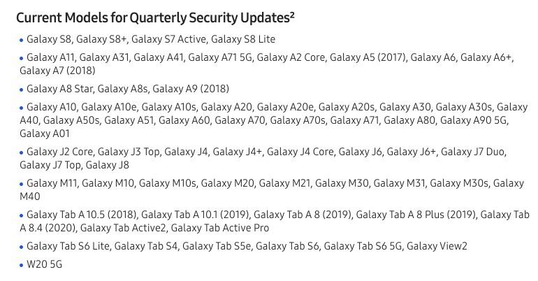 Quartalsupdates Samsung Q2 2020