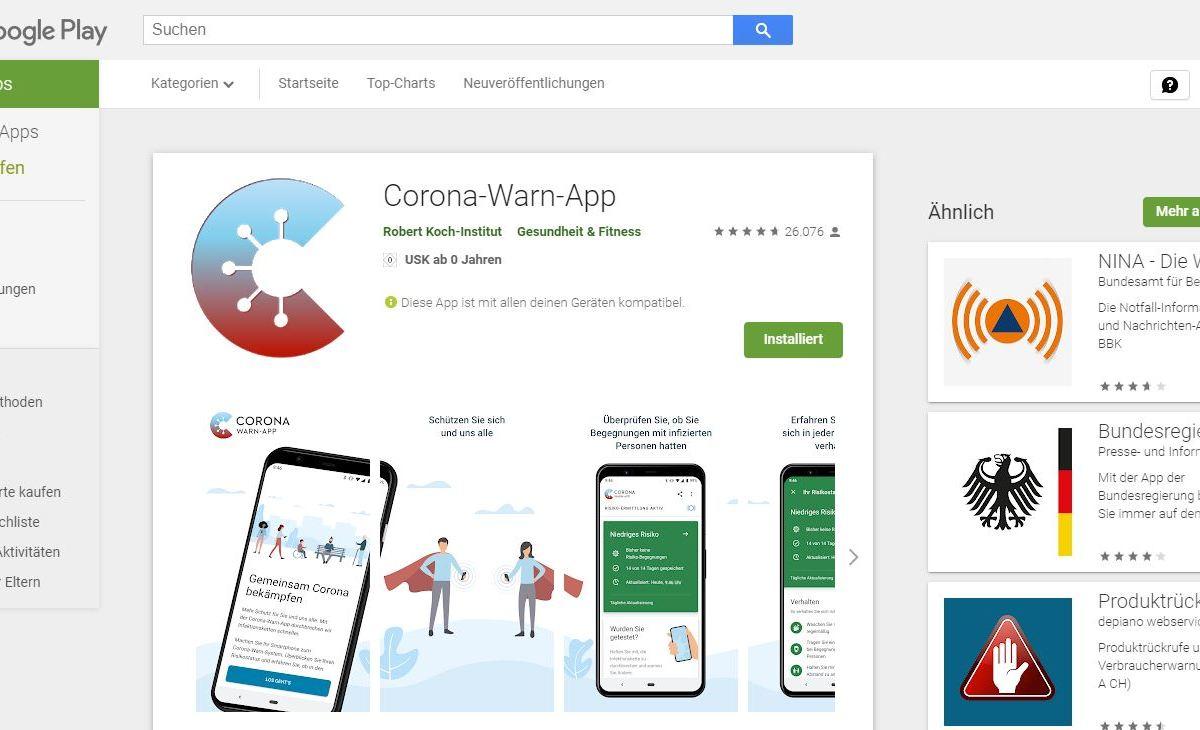 Corona Warn App Play Store