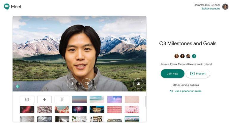 Google Meet Hintergrund