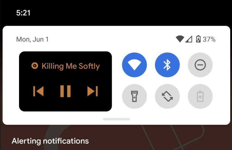 Medienplayer Schnelleinstellungen Android 11