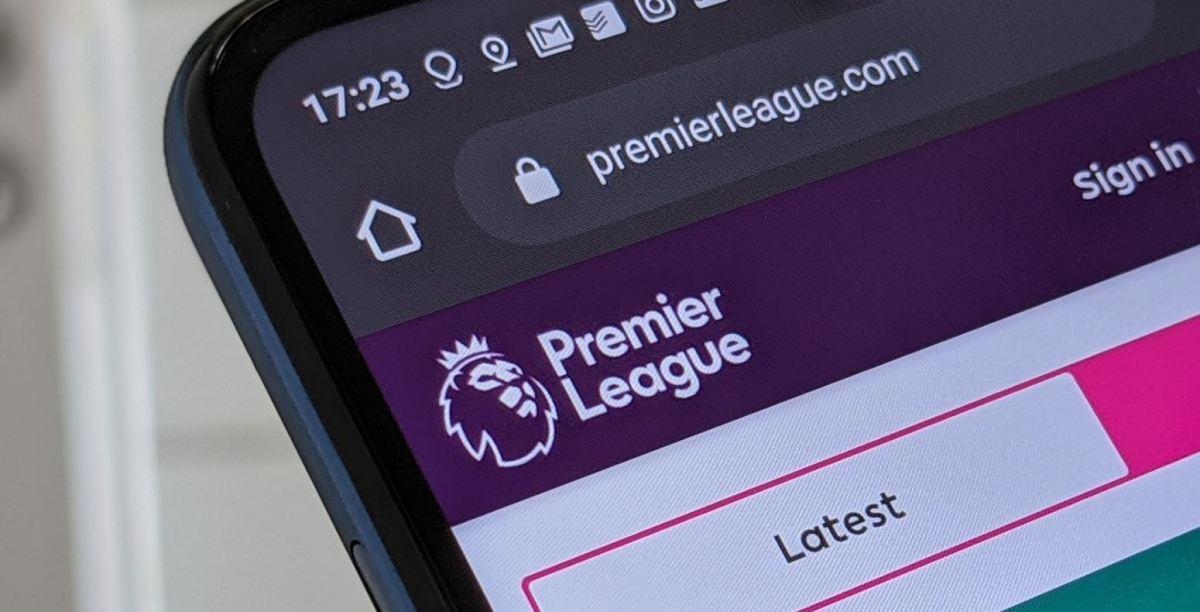 Premier League Webseite Head