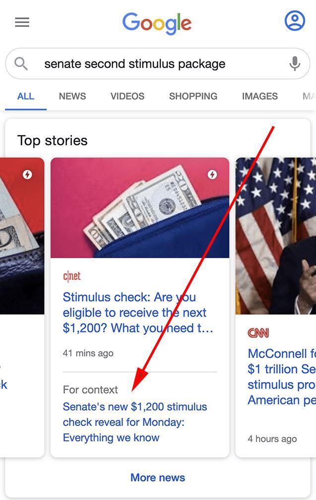 For Context Zweite Quelle Karussell Google News