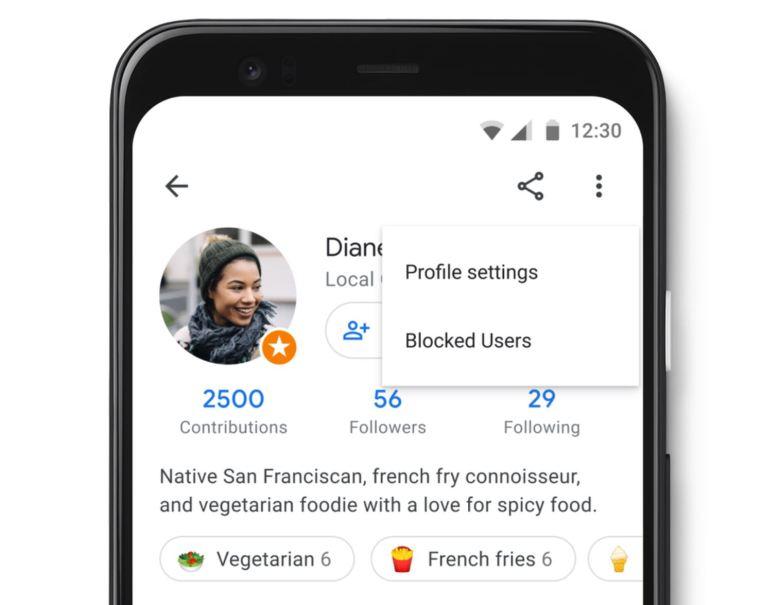 Google Maps Profil Update 2020